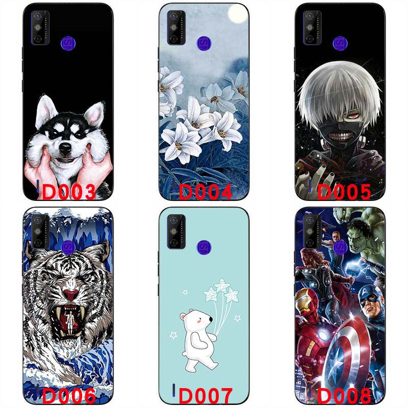 Soft silicone painted print case For Tecno Spark 6 GO handphone case 6.52 inch soft TPU Back cover Protective shell