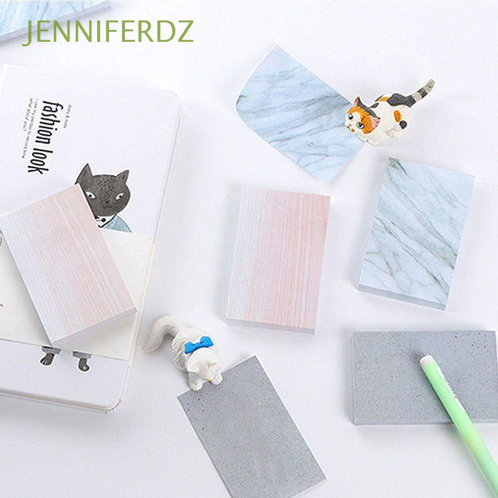 JENNIFERDZ Books Sticky Notes Stationary Supplies Notebook Memo Pad Creative Rectangle Stationery Square Stone Texture Sticky Marble Texture/Multicolor