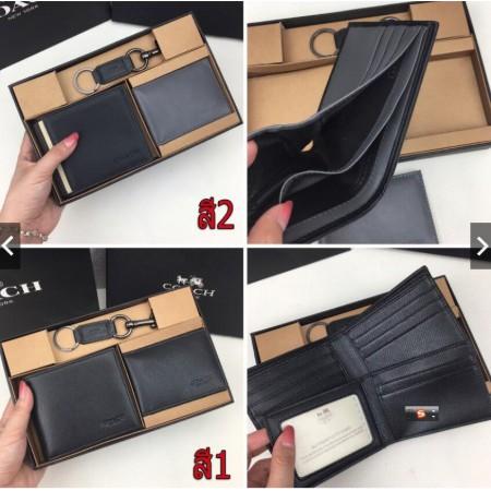coach แท้ กระเป๋าสตางค์ใบสั้น กระเป๋าสตางค์ผู้ชาย หนังแท้กระเป๋าสตางค์/F74974/F74688 กระเป๋าสตางค์แท้ /กระเป๋าสตางค์หนัง