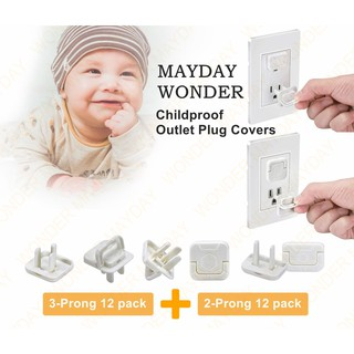 White Three-Hole Protective Covers Child Proof Electrical Protector Safety Caps Childrens Electric Shock Protection Cover LBY 50-Pack Outlet Plug Covers