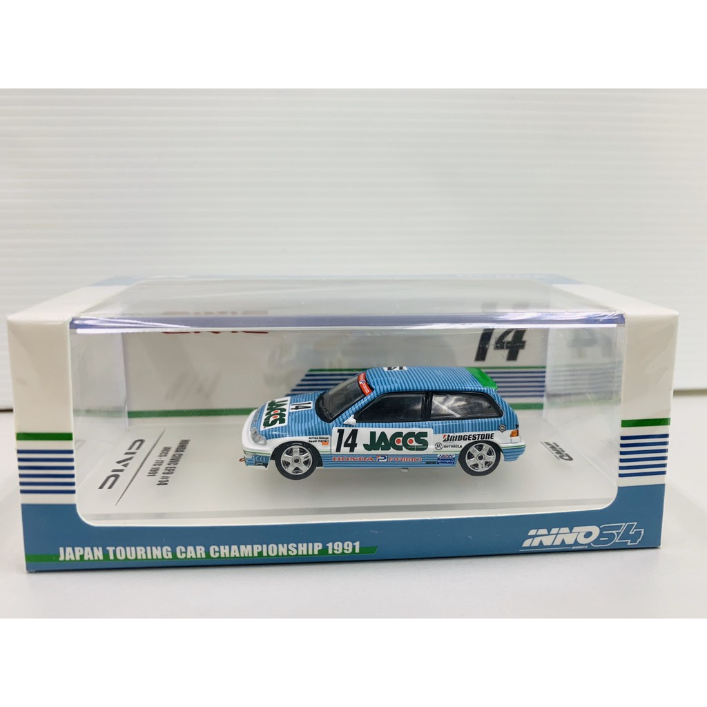 INNO64 1/64 Honda Civic EF9 Gr.A #14 Jaccs JTC 1991
