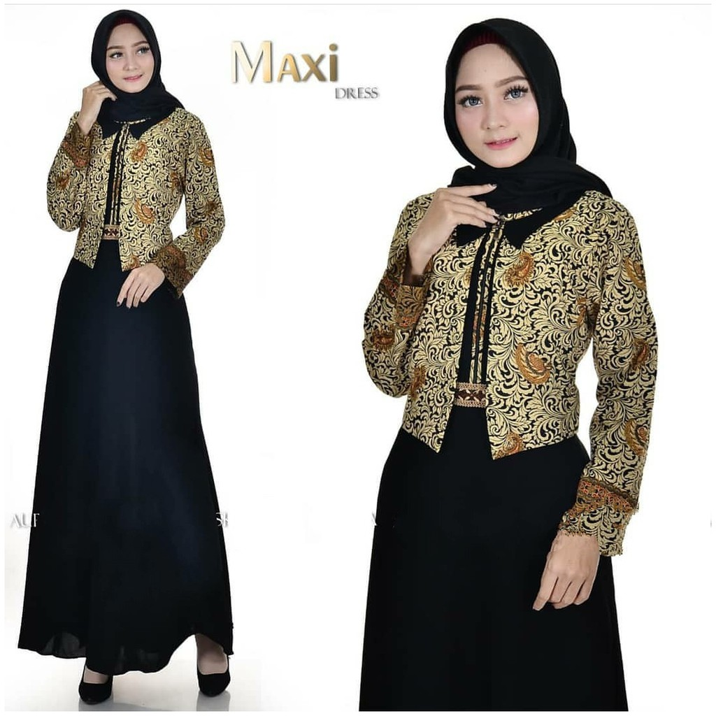 Azza Batik ชุดเดรสเสื้อคลุม / Azza Batik Dress / Azza Busui สําหรับสตรี