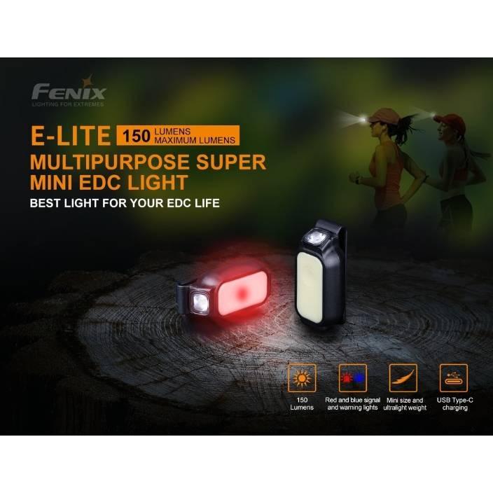 ไฟฉายติดหมวก Fenix E-LITE MULTIPURPOSE SUPER MINI EDC