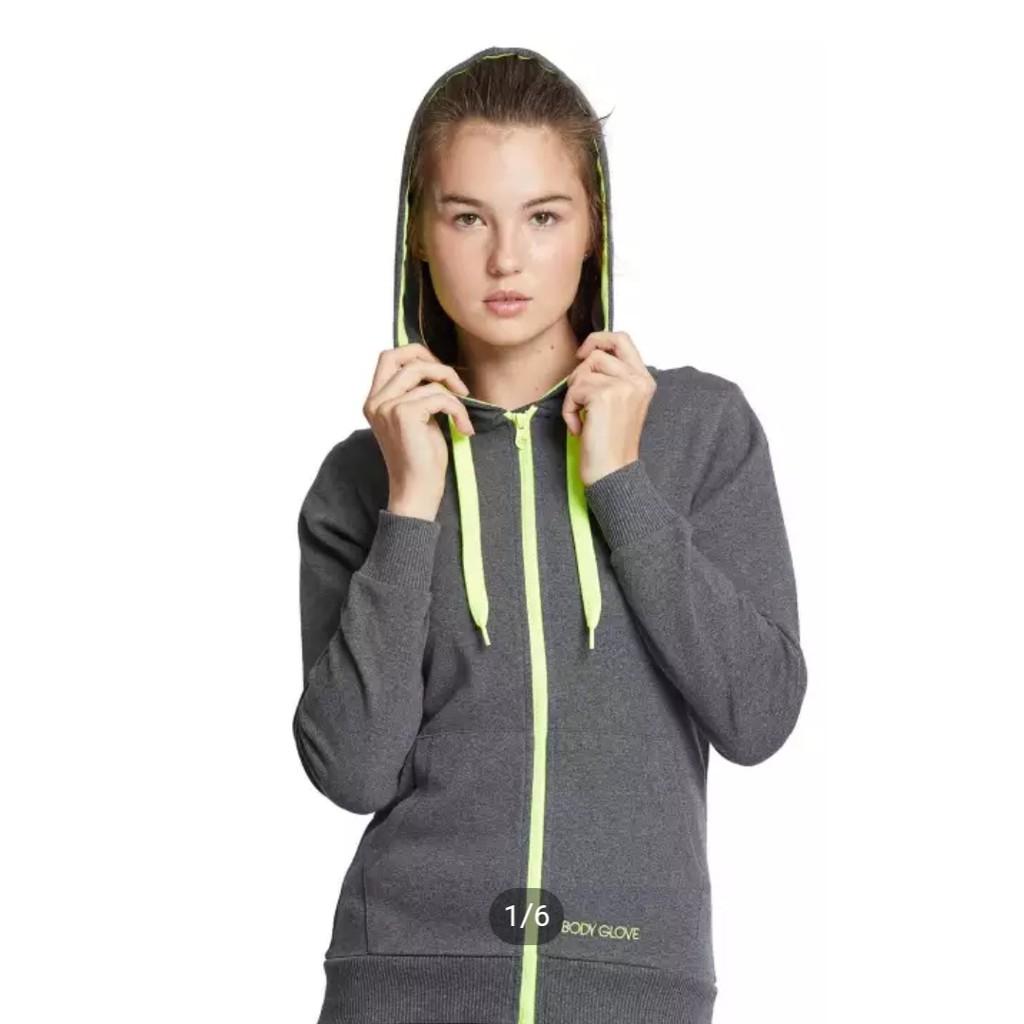 BODY GLOVE Sport Casual Women Hoodies เสื้อฮู้ดแขนยาว ผู้หญิง สี DK.Grey