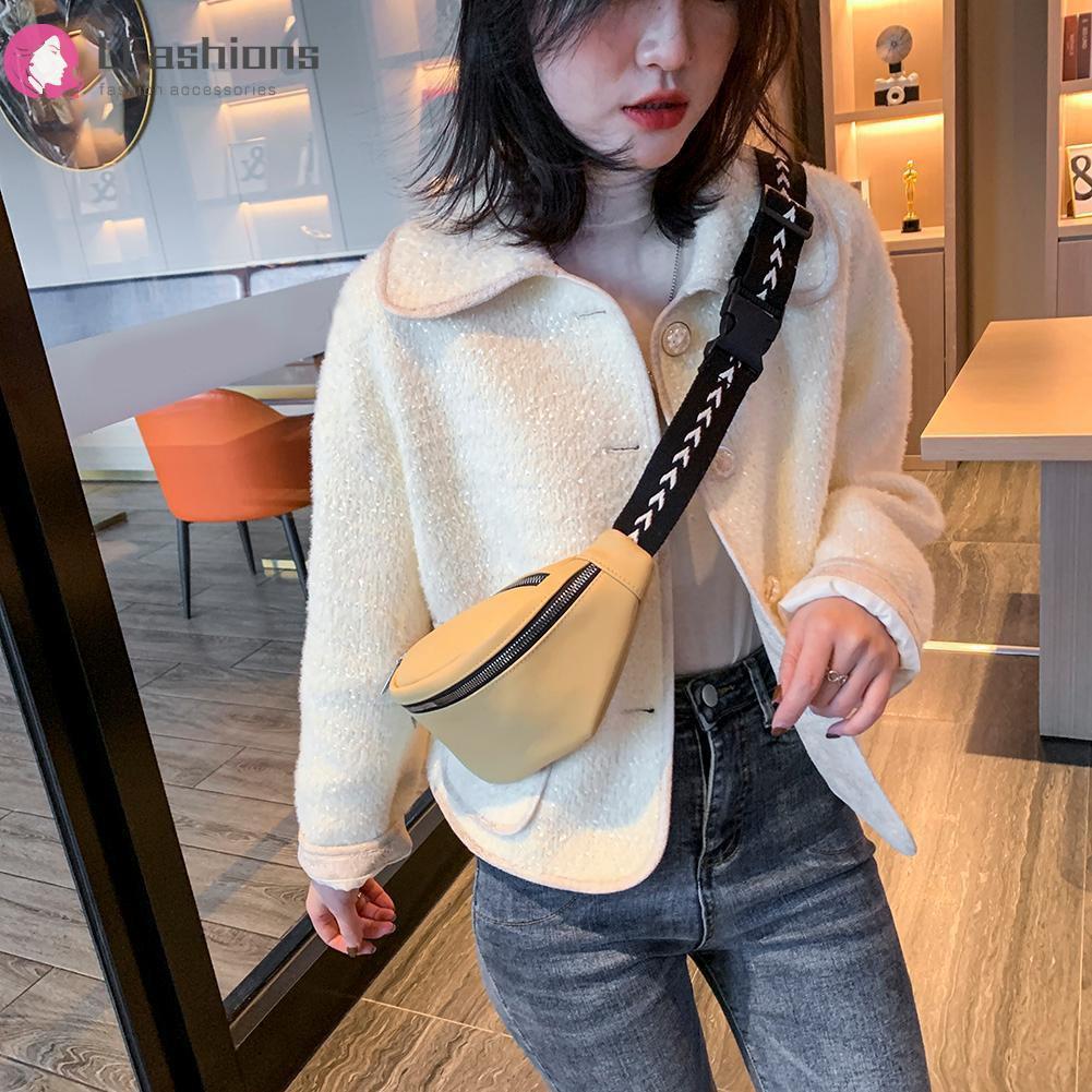 GUCCI ❤Lfashion❤ Fashion Fanny Chest Belt Bag Women Leather Shoulder Pack Waist Phone Pouch  LV