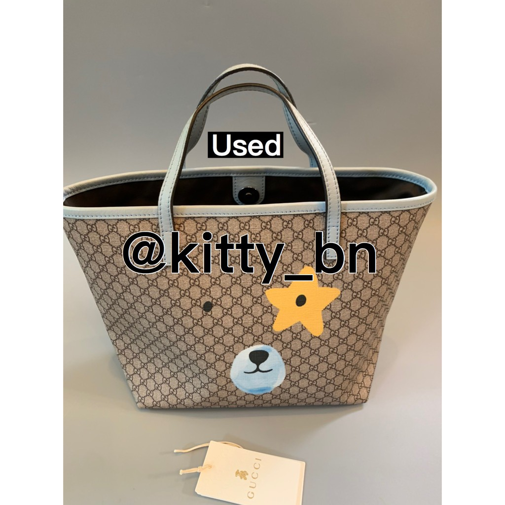 🌈Used : Gucci tote bag teddy bear