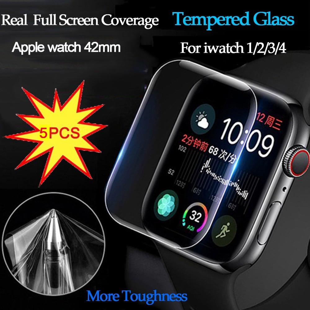 ฟิล์มกันรอยหน้าจอสําหรับ Apple Watch Series 1 / 2 / 3 / 4 5 ชิ้น