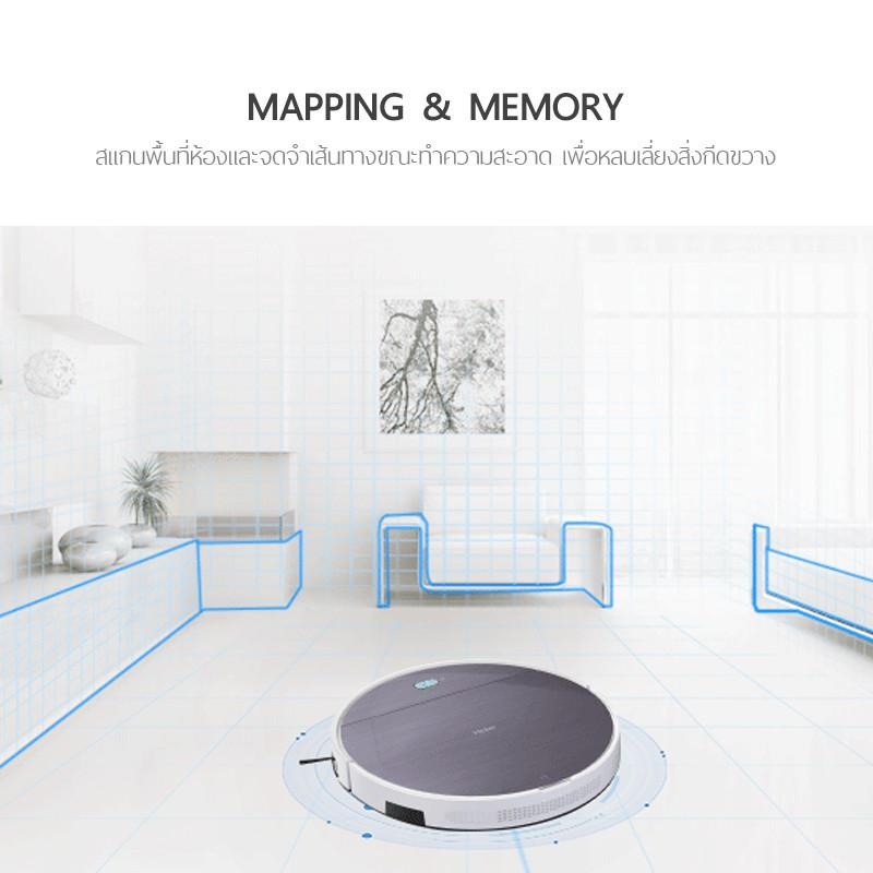 ✘☋✆PetVac365 หุ่นยนต์ดูดฝุ่น และถูพื้นแบบแท็งค์น้ำ Wifi GYRO MAPPING VIRTUAL WALL