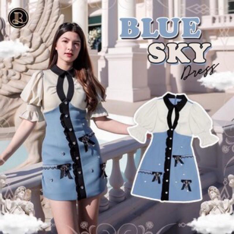Blue Sky Dress : BLT มินิเดรสสีฟ้า งานตามหา Size XS