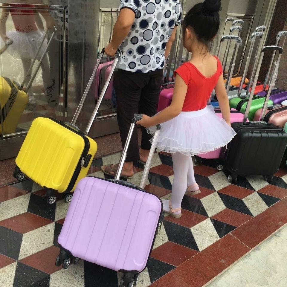 ☨ღ กล่องเก็บเสื้อผ้า  กล่องเดินทางรุ่น14นิ้วรุ่นขึ้นเครื่องมินิการ์ตูนกรณีรถเข็น16กล่องนิ้วผู้หญิงกระเป๋าเดินทางขนาดเล็ก