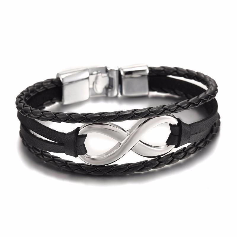 infinity bracelet leather infinity bracelet for men Set bracelets couple bracelets custom infinity Gay bracelet mens leather bracelet