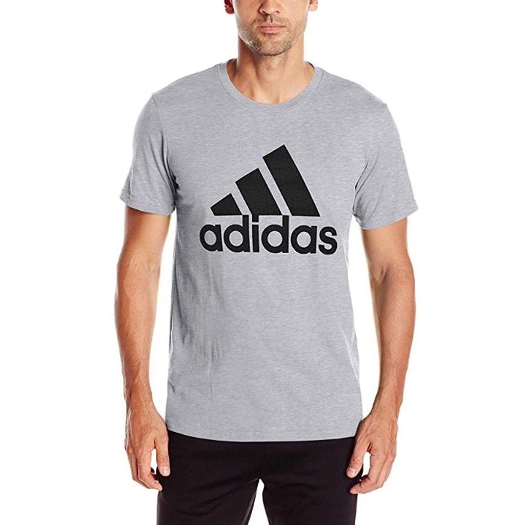 adidas Men's Athletics Badge Of Sport Tiny Script Tee