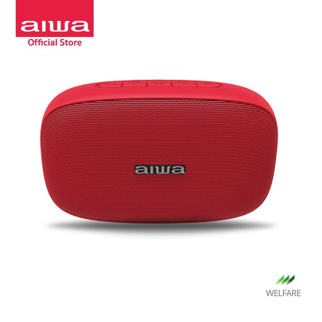 รหัส 64  เสียงดี!! AIWA SB-X50 Mini Bluetooth Speaker ลำโพงบลูทูธ 5.0 เล่นนาน 6 ชม. พลังเสียงเบสแน่น ได้โดยตรง ราคาถูก