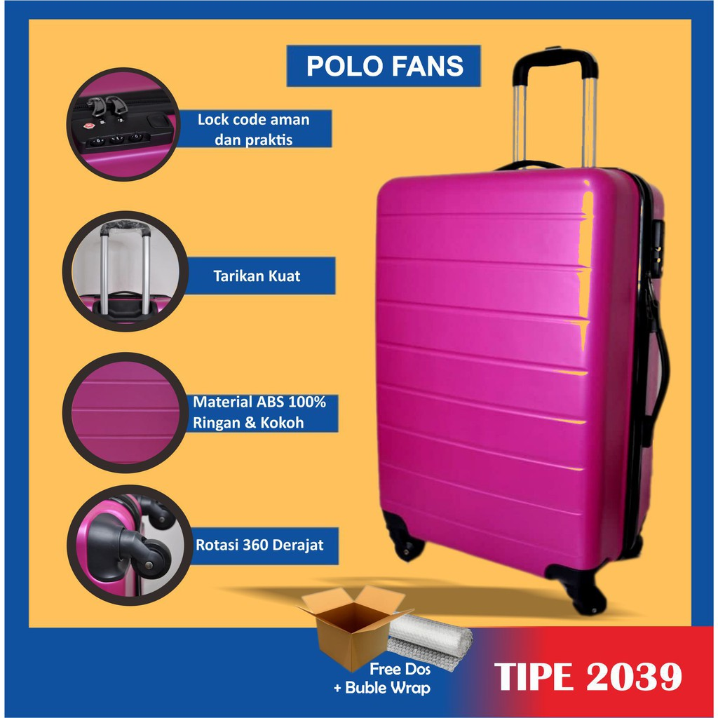 Polo 6.6 กระเป๋าเดินทางขนาด 24 นิ้ว 2039 / กระเป๋าเดินทาง / กระเป๋าเดินทาง / กระเป๋าเดินทาง / กุหลาบ
