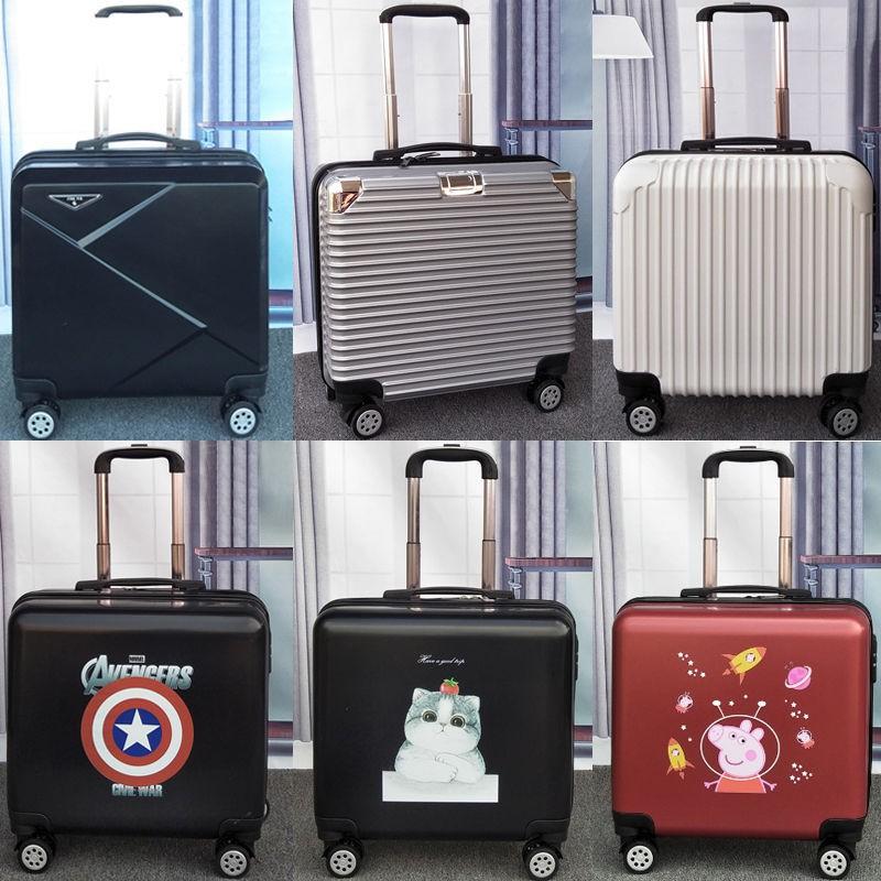[กระเป๋าเดินทาง] กระเป๋าเดินทาง 18 นิ้ว กระเป๋าเดินทางขนาดเล็ก 20 กระเป๋าเดินทางใบเล็ก รหัสผ่านนักเรียนชาย กล่องกระเป๋าเ