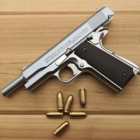 ◈✙❈1:2.05 อัลลอยเอ็มไพร์ M1911 Colt จำลองปืนพกรุ่นไม่สามารถยิงโลหะทั้งหมดที่ถอดออกได้