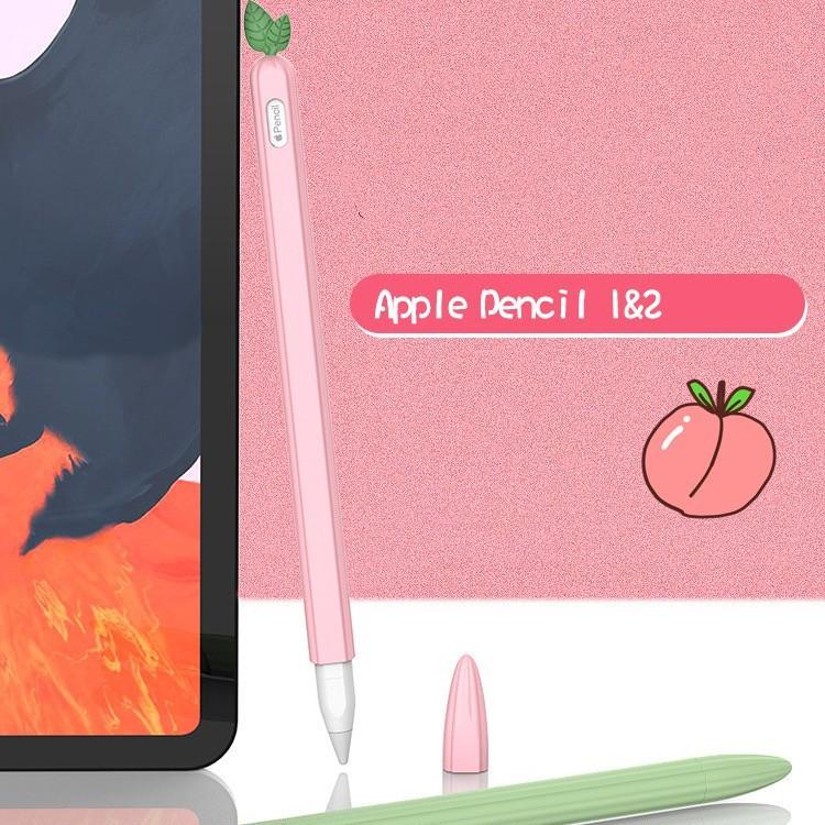 🌻💋📣☎❖☎พร้อมส่งจากไทย!เคสApple Pencil1& 2 Case เคสปากกาซิลิโคน ดินสอ ปลอกปากกาซิลิโคน เคสปากกา6สี