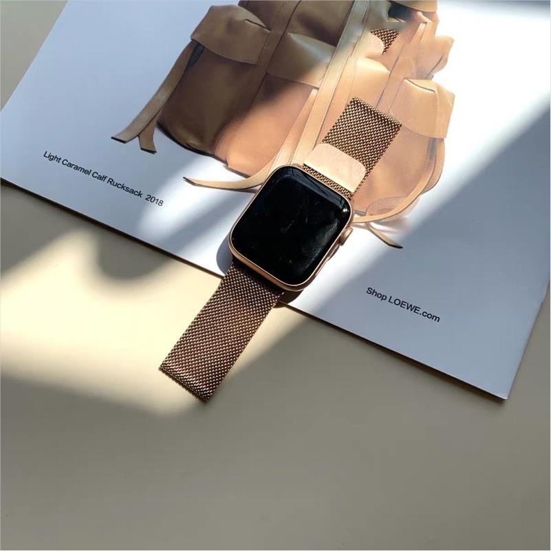 №สายเปลี่ยนนาฬิกาข้อมือ AppleWatch Band Milanese Loop Series 1 2 3 4 5 6 44 มม 40 มม 38 มม 42 มม สาย applewatch 6 se 4.7