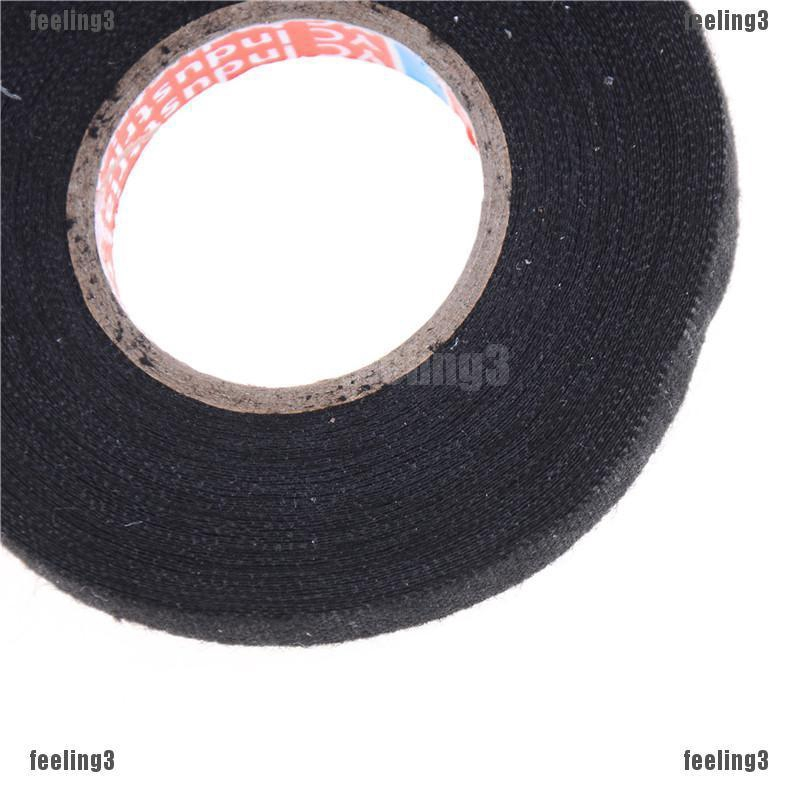 Hot 1x Adhesive 19mmx15M Cloth Fabric Tape Cable Wiring Harness For Car Auto