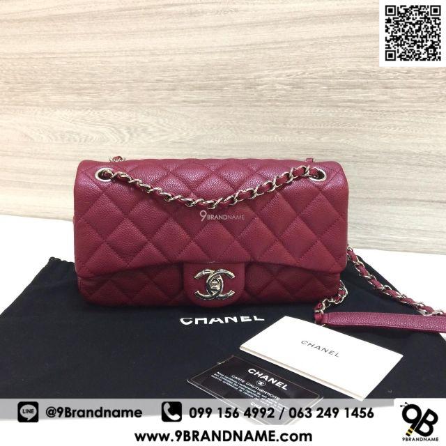 bf9090aed2b3 Used - Chanel Wallet Bi Fold Red Caviar SHW   Shopee Thailand