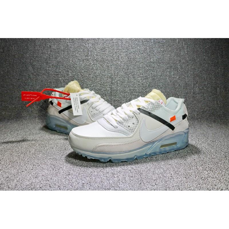 รองเท้าผ้าใบ NIKE AIR MAX 90 x off-สีขาว