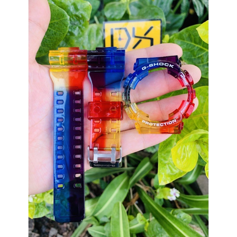 สาย applewatch สาย applewatch แท้ ใช้ MAYINC30 ลดเพิ่ม 30% กรอบสายนาฬิกา G-Shock สีรุ้ง แบบใส แบบสี ฟรีตะขอ 🌈✨