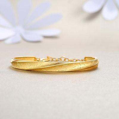 ₹●เพชรพลอยเพชรพลอยสร้อยข้อมือChaohongji รักการตัดจริงทองสร้อยข้อมือทองคำบริสุทธิ์งานแต่งงานสร้อยข้อมือทองราคาแต่งงาน H
