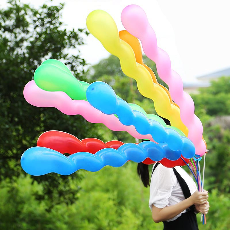 2 x Spiral Latex Mixed Colour Long Balloons Party Decoration Wedding Birthday
