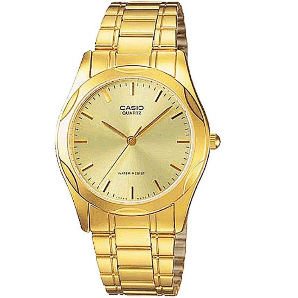 จัดส่งฟรีนาฬิกา รุ่น Casio นาฬิกาข้อมือ ผู้ชาย สายสแตนเลส รุ่น MTP-1275G-9A ( Gold ) / (ประกันCMG) จากร้าน MIN WATCH