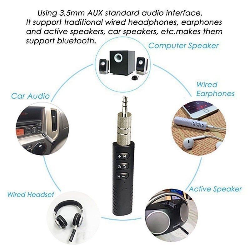 Luxury Bluetooth Receiver Adapter Wireless Converter for Car Aux Home Stereo