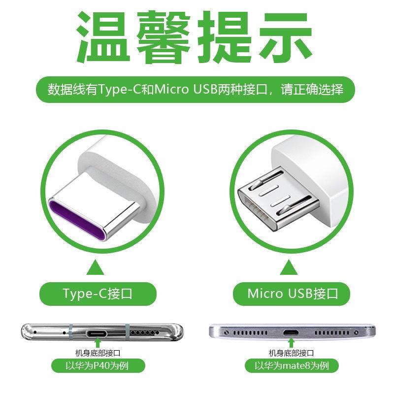 ❁❃∏เหมาะสำหรับการชาร์จอย่างรวดเร็วของสายชาร์จ Huawei nova3/4/2s/3e/4e/5i glory 7/8/P9/10s สายชาร์จที่ชาร์จแบตมือถือ ที่ช