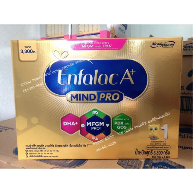 Enfalac A+ เอนฟาแลค เอพลัส มายโปร สูตร1 3300กรัม (550กรัม x6ซอง)