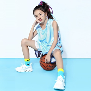 Kids Basketball Jersey Sets Custom Number Tank Tops Sports Gym Clothes Boys Girls Basketball wear Vest Shorts Uniforms