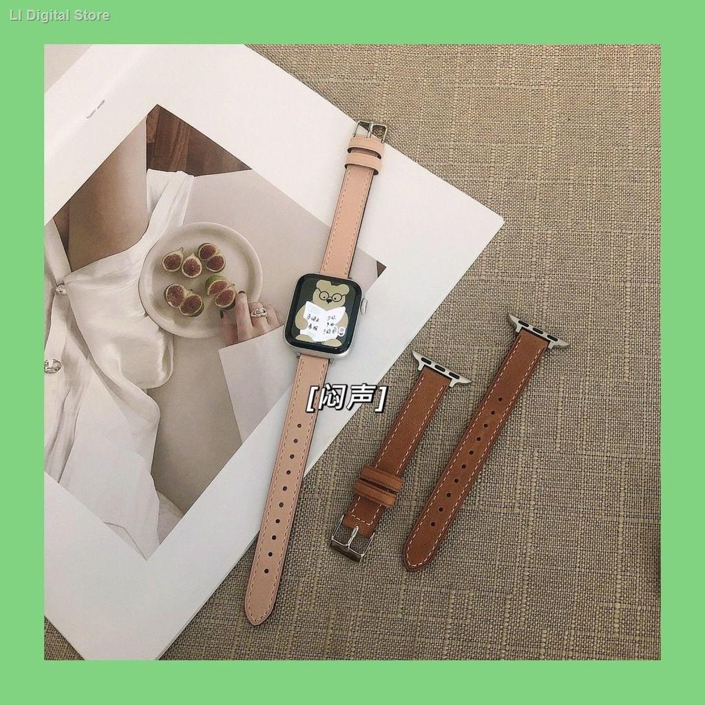 【อุปกรณ์เสริมของ applewatch】■✌☑สาย Applewatch ที่ใช้งานได้, หนังเอวเล็กสายรัด iwatch ย้อนยุค 123456SE บุคลิกภาพของสา