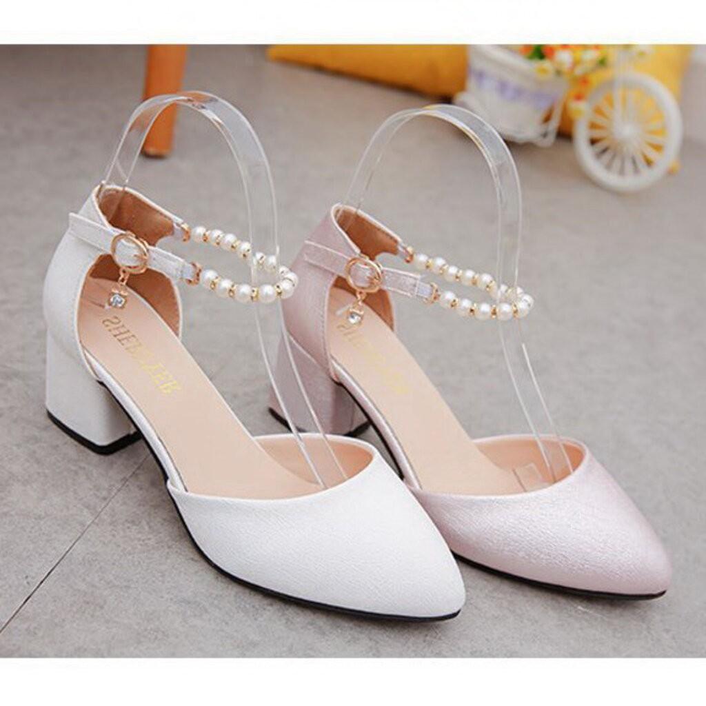 รองเท้าส้นสูง⌵รองเท้าส้นสูงผู้หญิง⌵ Shoe14991-1 รองเท้าคัชชูเด็กเล็ก รองเท้าคัชชูเด็กโต (ความยาวที่แจ้งไว้คือวัดจากพื้นภ