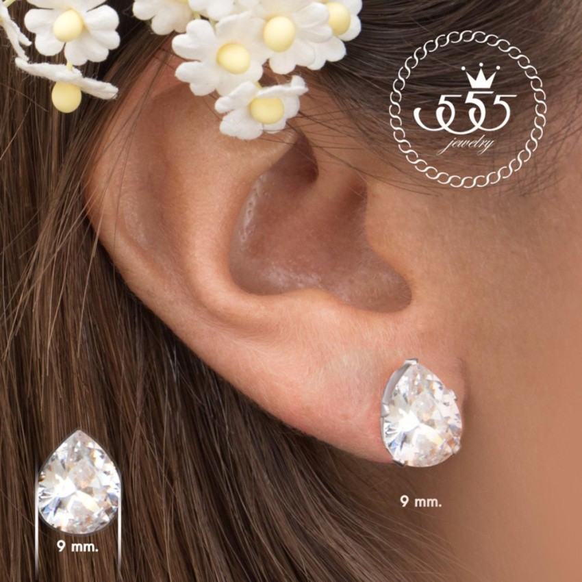 555jewelry 316L Earrings ต่างหู รุ่น MNC-ER504-A (Steel)