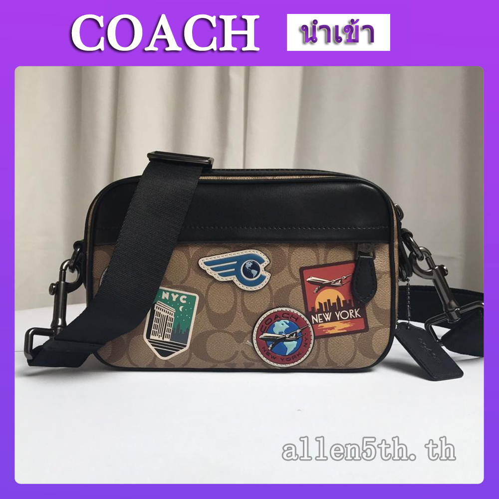 กระเป๋า Coach F72947 กระเป๋าแฟชั่นผู้ชาย / กระเป๋าสะพายข้างผู้ชาย / crossbody bag / กระเป๋ากล้อง