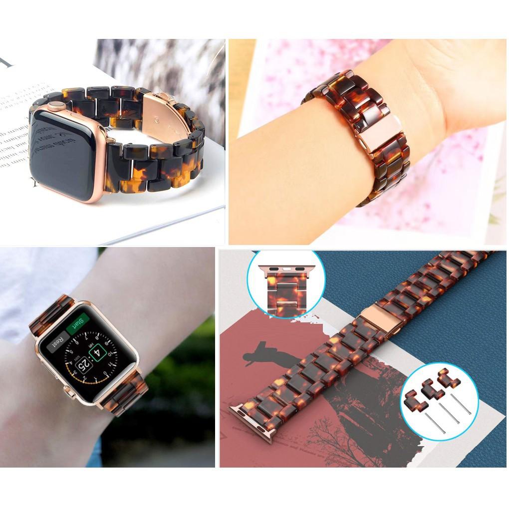 ☌❀▬สายนาฬิกา Apple Watch Resin Straps เรซิน สาย Applewatch Series 6 5 4 3 2 1,  Apple Watch SE Stainless Steel สายนาฬิกา