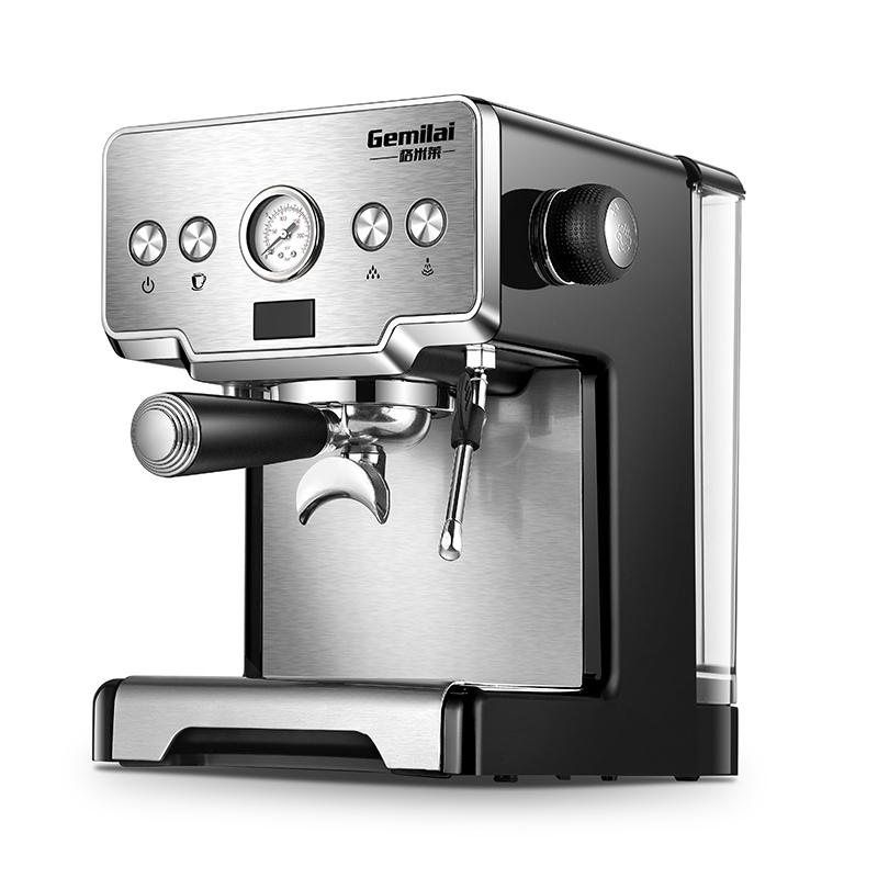 เครื่องทำกาแฟGemilai CRM3605 เครื่องชงกาแฟในครัวเรือนขนาดเล็กบดสดใหม่อย่างเต็มที่กึ่งอัตโนมัติปั๊มแรงดันประเภท 15BAR ฟอง