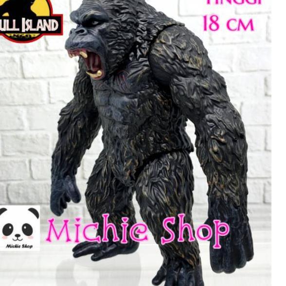 King Kong Figure ท็อปเปอร์รูปหัวกะโหลก 18 ซม. สําหรับตกแต่งเค้ก