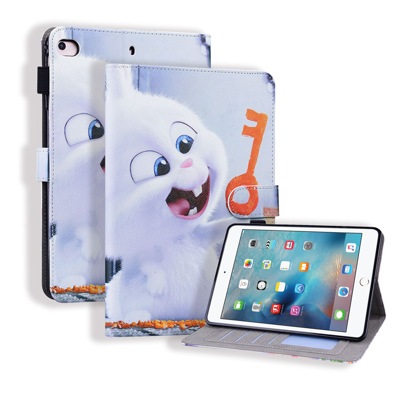 iPad Mini 1 2 3 4 5 6 2019 Flip Case 7.9 8 inch with Apple Pencil Holder Leather Cartoon Card Slots Wallet Stand Cover