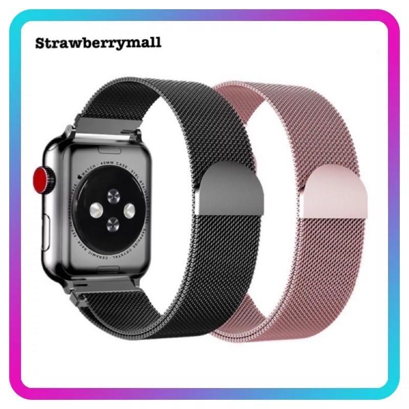 สายเปลี่ยนนาฬิกาข้อมือ Apple Watch Band Milanese Loop Series 1 2 3 4 5 6 44 มม 40 มม 38 มม 42 มม สาย applewatch 6 se 4.7