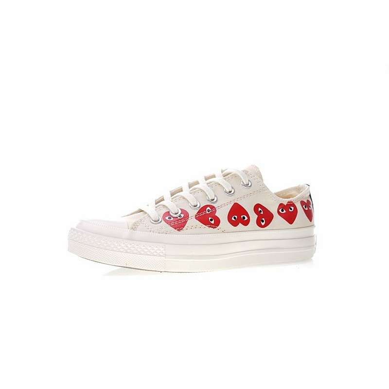 Genuine COMME des GARCONS PLAY x Converse All Star OX sports casual sneakers for men and women white