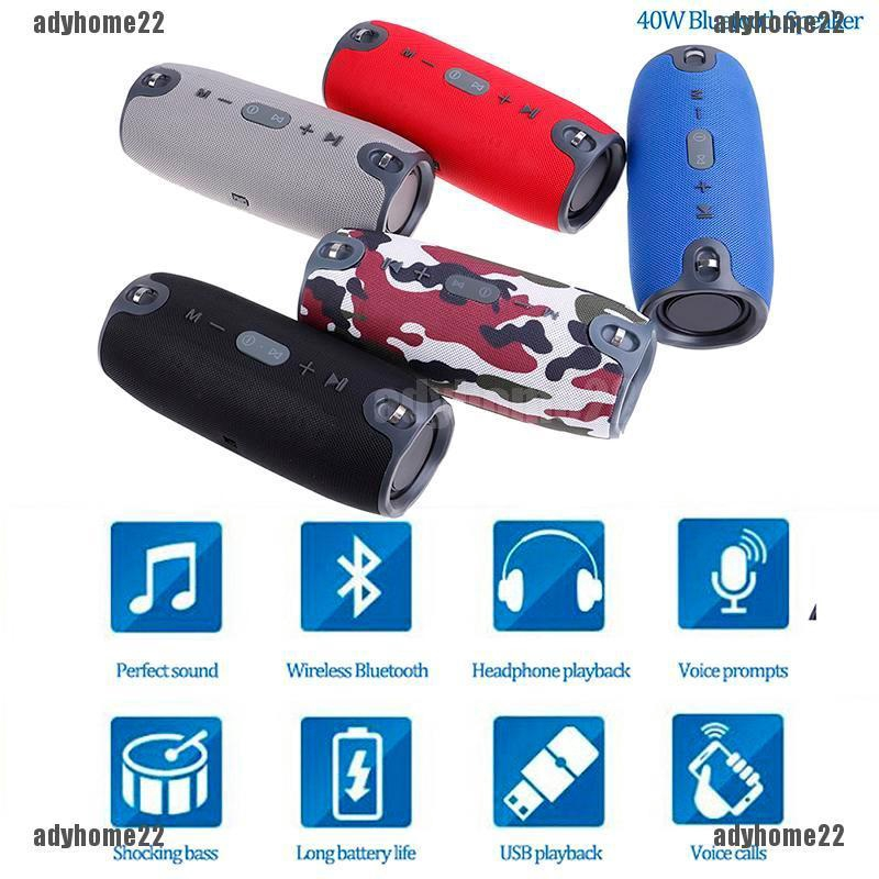 40W Wireless Bluetooth Speaker Waterproof Outdoor Super Bass Stereo USB AM