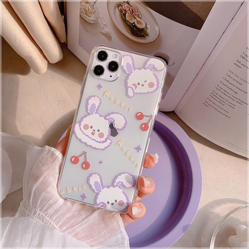 Cute purple bunny soft Case Samsung A8+ 2018/A8Plus A8 2018 A7 2018 A6+ 2018/A6Plus  A6 2018 A9 2018 A7 2017/A720 A5 2017/A520 A3 2017/A320 J8 2018 J6 2018 J6Plus/J6+ J4 2018 J4Plus/J4+ J7Plus J7Pro/J7 2017 J7Prime J710/J7 2016 Note9 Note10 NOTE10Plus