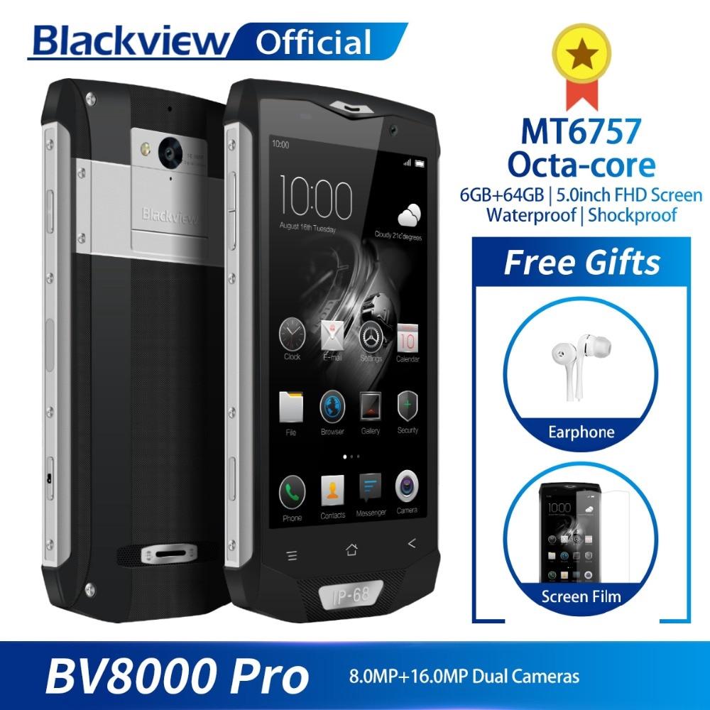 สมาร์ทโฟนBlackv 8000 Pro 5 Fhd Mt 6757 Octa - Core 6 Gb 64 Gb 4g รองเท้าผ้าใบลําลองสีดํา