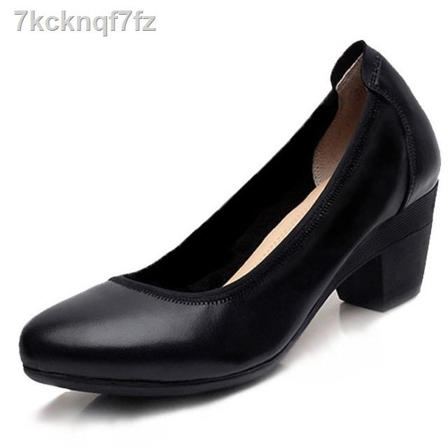 รองเท้าผู้หญิง♀35รีบจับจอง ใกล้หมดเเล้วค่ะ🔥งานหนังแท้ 💯🔥 รองเท้าคัทชูดำหนังแท้ คัชชูสีดำ ทรงสุภาพ 35-40