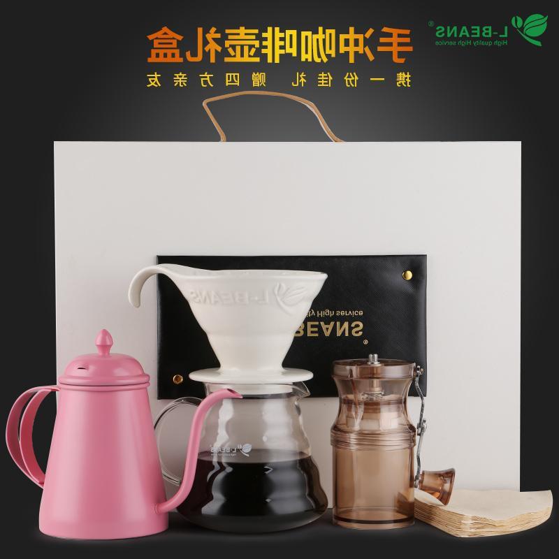 へ✵หม้อกาแฟเครื่องชงกาแฟมือญี่ปุ่น Liandou กาแฟทำมือกล่องของขวัญหม้อทำมือชุดหม้อกาแฟกล่องของขวัญบางคอหม้อกรองถ้วยแบ่งปันห