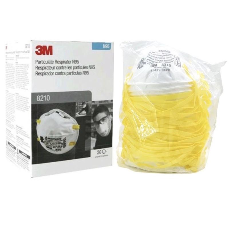 3M 8210 (Made In USA) หน้ากากป้องกันฝุ่น ละออง PM 2.5 มาตรฐาน N95 รุ่น 8210