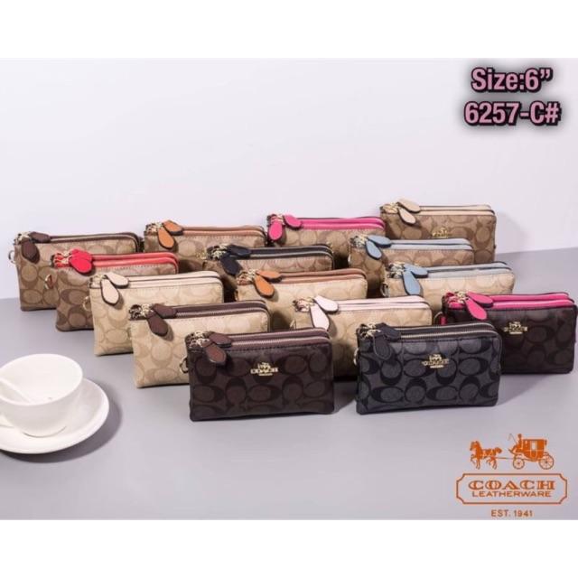กระเป๋าcoach คล้องมือ2ซิป มีถุงผ้า งานปั๊มแบรนด์